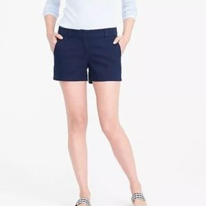 J. Crew Broken-In Chino Shorts, Navy, Size 00